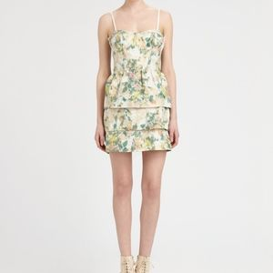 Alice + Olivia Strapless Silk Summer Dress